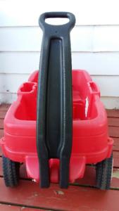 Chariot STEP 2  rouge avec attaches et 2 sièges.