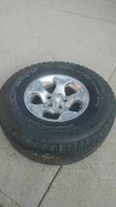 LT31x10.5R15 Set of Tires and Rims