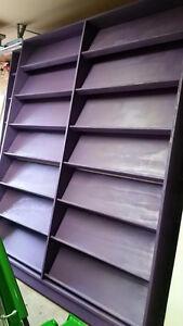 Solid wood magazine and comic display shelves