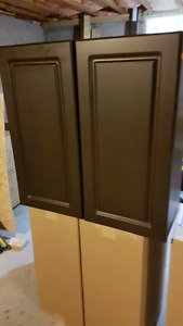 12 chocolate cabinets, new condition never installed