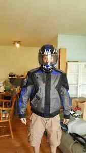 Manteau de moto First Gear avec casque