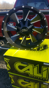 1 set only NEW 20x10 8X165 8X170-19ET CALI OFFROAD rims