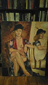 """XL Oil on canvas nude lady 36""""x45"""""""