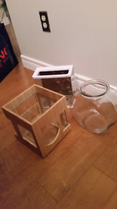 2 Betta tanks and a goldfish bowl - $10each or 3/$20
