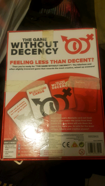 The Game Without Decency Card Game Board Games Gumtree Australia Fairfield Area Bonnyrigg Heights 1221831892