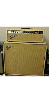 Fender Showman Blonde late 1963 85W 6L6 with 1x15 cab.