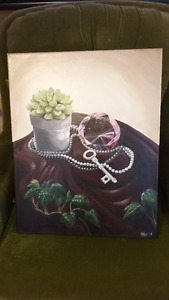 'Pretty' - Original Still Life Painting by Erica G. Young