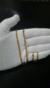 """Solid 10K Gold Flat Gucci Link Chain 3.5mm 20"""""""