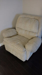 Good Condition Beige Lazy Chair