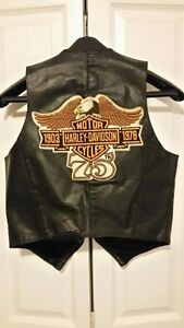 Harley Davidson 75th anniversary (1978) leather vest (small)