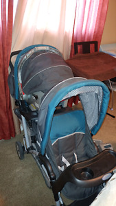 Double stroller and carseat for sale
