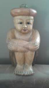 Vintage wooden buddha. Really special piece. 38cm x21 cm x22 cm.