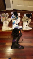 Womens Snowboard Boots, 4 pairs all must go! GOOD BRANDS&PRICES