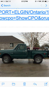 WANTED 1971 chevy c10 step side