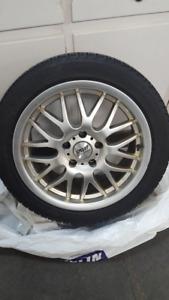 Snow tires on custom aluminum rims 225/45/17