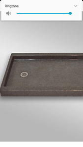 "New. Redi tile 60"" shower pan"