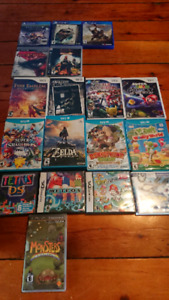 Various video games (psp, ps3, ps4, 3ds, ds, Wii, WiiU)
