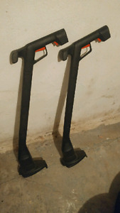 Pair of electric black & decker grass and weed trimmers