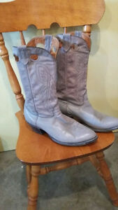 2 pair Men's Leather Cowboy Boots sz 13