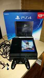 PlayStation 4 500gb with controller, games, and PS Plus