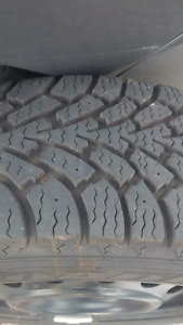 Four 15 Inch Winter Tires on SteelRims, Used for 1 Winter Season