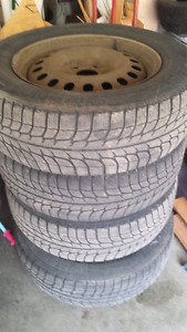 Michellin xice winter tires with rims $100