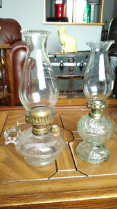 Two Antique Oil Lamps (1890 Climax)