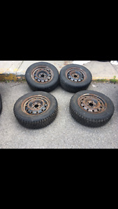 215/65 R16, 4 winter tires(2 TOYO,2 Nokian) with rims