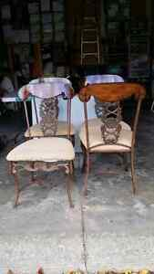 Cast iron/wood chairs French Parisienne style
