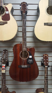 Fender All Mahogany Cutaway Guitar- Great Student Guitar- w/Case