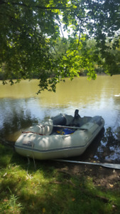 Inflatable Boat with Electric Motor, Battery + Extras