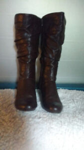 NEW BROWN WEDGE BOOTS