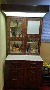 Barbershop Cabinet from 1950's - Great for a Bar! Cambridge Kitchener Area image 1