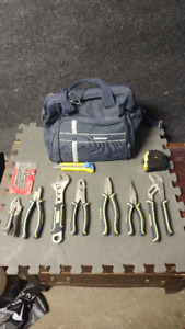 Wrench, Vicegrips , tool-bag etc