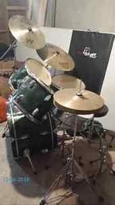 Green adult drum kit for sale $450