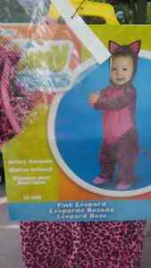 Pink leopard baby costume
