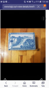 Antique china box mint condition. Stamped