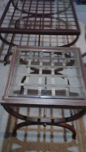 Bombay& Company Wrought Iron Coffee and end tables