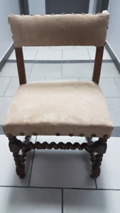 Chaise style Jacobin 18e siècle de France / 18th century Chair