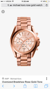 Oversized Rose Gold Michael Kors Watch