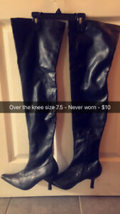 Women's sexy over the knee boots size 7.5