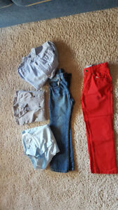 BOYS PANTS AND TOPS SIZE 7 FROM PET AND SMOKE FREE HOME
