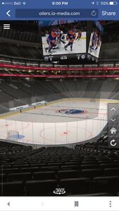 All Oilers home games, picture is view close to the seats