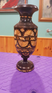 Hand crafted wooden vase