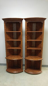 Two Corner Shelving Units