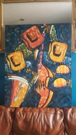 Wow CUBA FINE ART Oil Painting CARIBBEAN Artist tropical jazz musicia