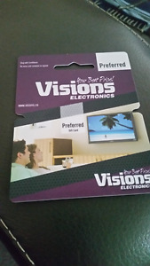 Visions $1500 GIFT CARD MUST SELL