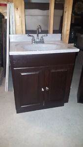 2 Bathroom Vanities & 2 matching Cabinets