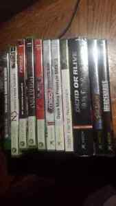 Xbox and xbox 360 games,  perfect condition.