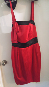Torrid red and black party dress